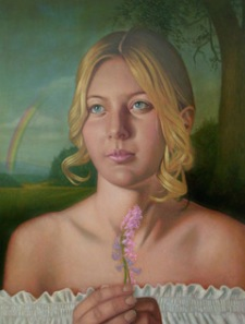 PELSTREAM GIRL Oil on Canvas 5X4 ft 2005